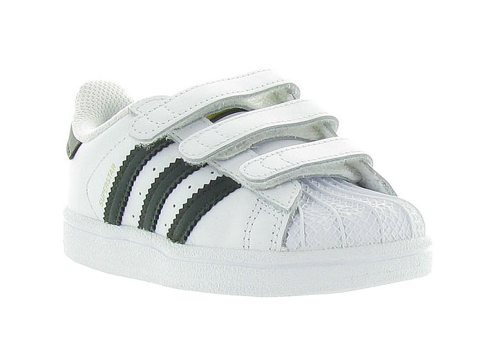 Adidas baskets et sneakers superstar velcro blanc