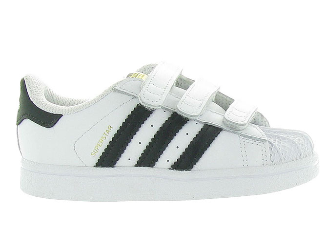 Adidas baskets et sneakers superstar velcro blanc4246101_2
