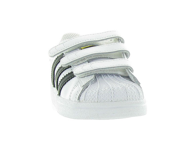 Adidas baskets et sneakers superstar velcro blanc4246101_3