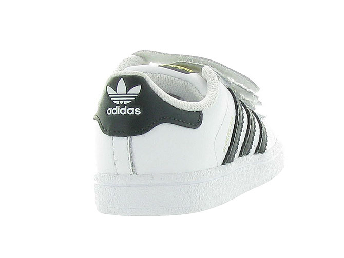 Adidas baskets et sneakers superstar velcro blanc4246101_5