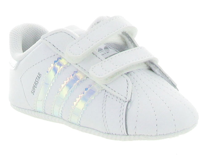 Adidas baskets et sneakers superstar crib girl blanc