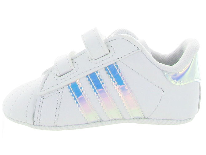 Adidas baskets et sneakers superstar crib girl blanc4247901_4