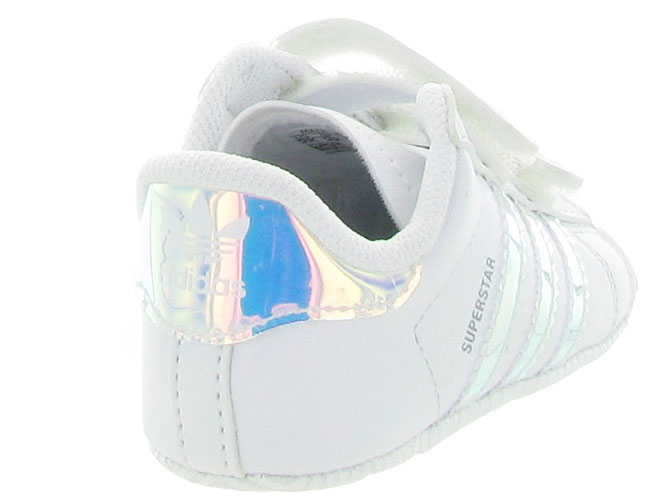Adidas baskets et sneakers superstar crib girl blanc4247901_5