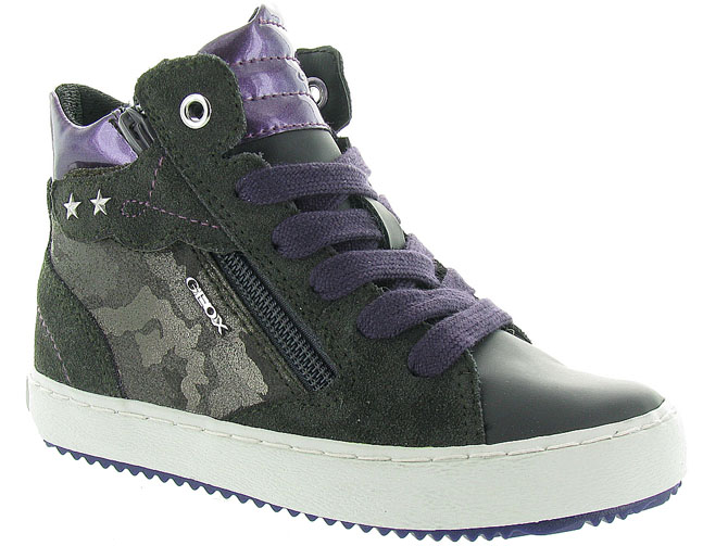 Geox chaussures a lacets j744gd kalispera anthracite