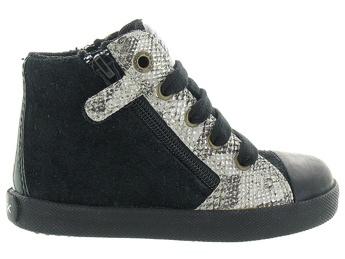 Geox baskets et sneakers b72d5a kiwi girl noir4298901_2