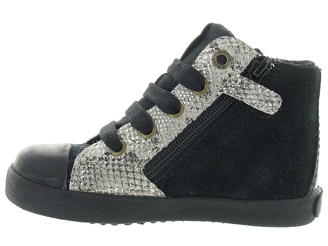 Geox baskets et sneakers b72d5a kiwi girl noir4298901_4