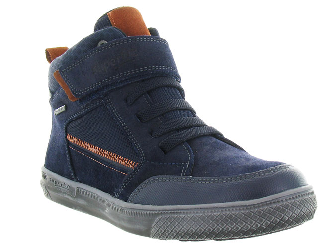 Superfit chaussures a lacets 200 goretex marine