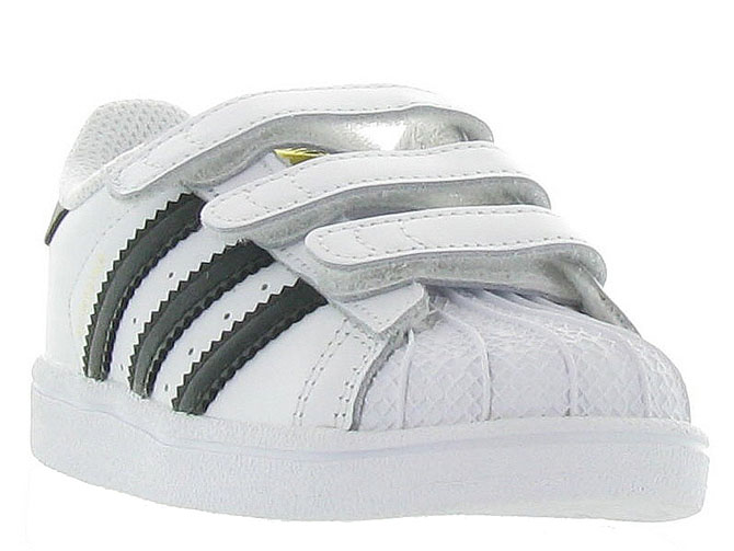 Adidas baskets et sneakers superstar cf i boy blanc4365201_3