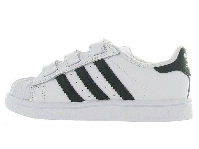 Adidas baskets et sneakers superstar cf i boy blanc4365201_4