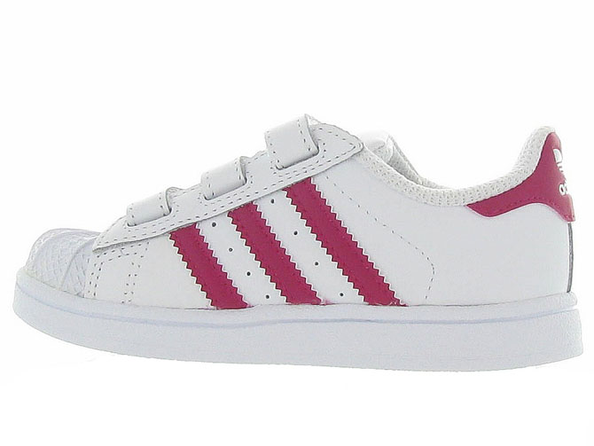Adidas baskets et sneakers superstar cf i girl blanc4365301_4