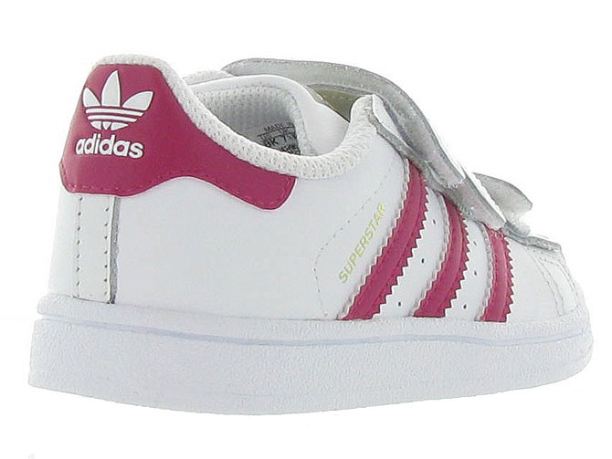Adidas baskets et sneakers superstar cf i girl blanc4365301_5