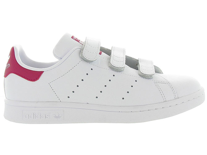 Adidas baskets et sneakers stan smith velcro adulte blanc4368301_2