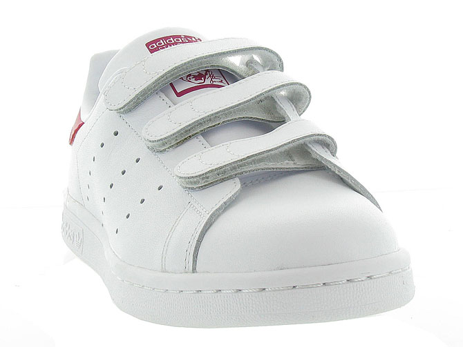 Adidas baskets et sneakers stan smith velcro adulte blanc4368301_3