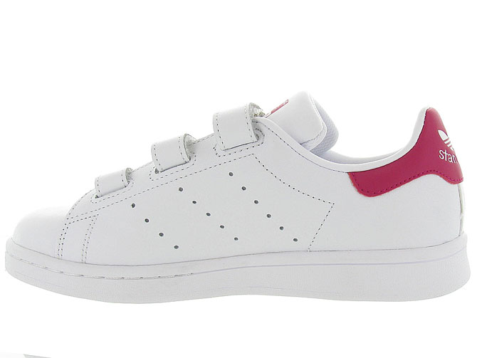 Adidas baskets et sneakers stan smith velcro adulte blanc4368301_4