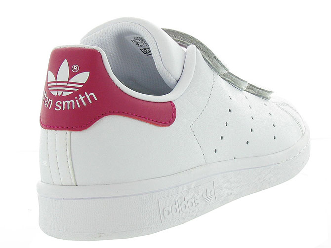 Adidas baskets et sneakers stan smith velcro adulte blanc4368301_5