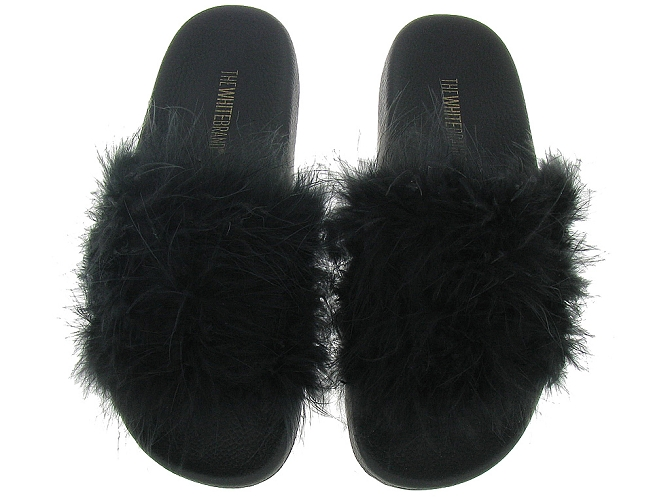 The white brand nu pieds l0132 feathers noir