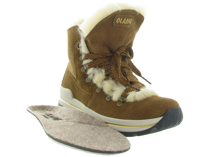 Olang apres ski bottes fourrees aurora marron