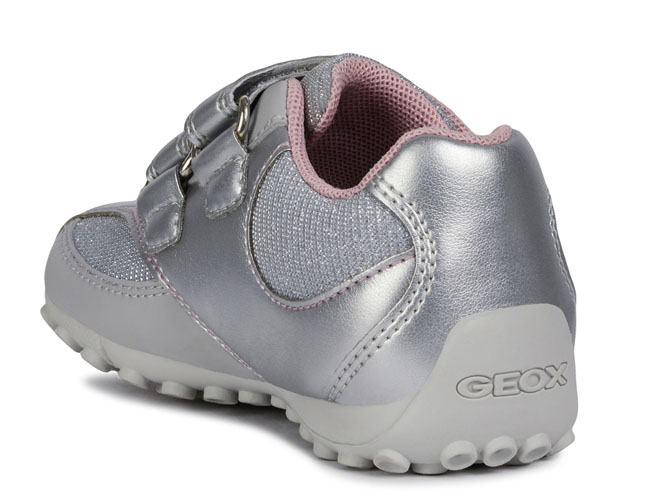 Geox baskets et sneakers b9212a snake sp argent4433601_4