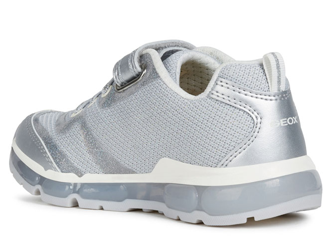 Geox baskets et sneakers j9245c android girl argent4433801_4