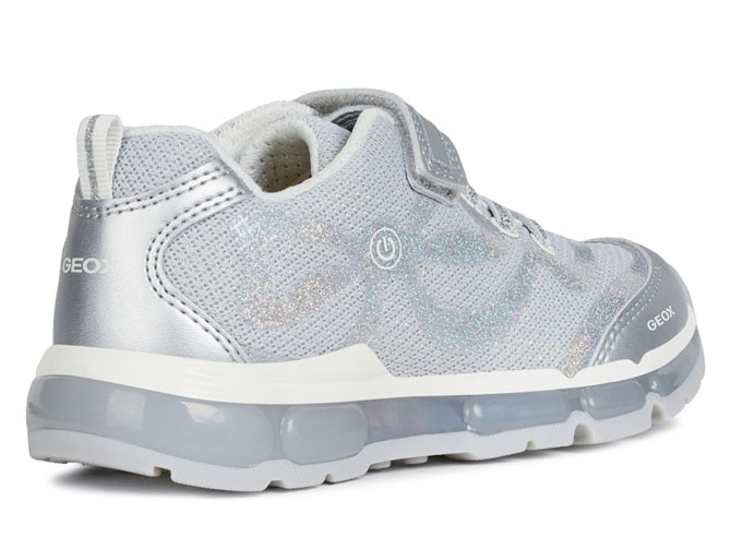 Geox baskets et sneakers j9245c android girl argent4433801_5