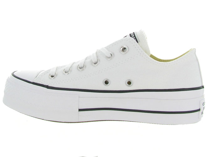 Converse baskets et sneakers ctas lift ox blanc4439602_4