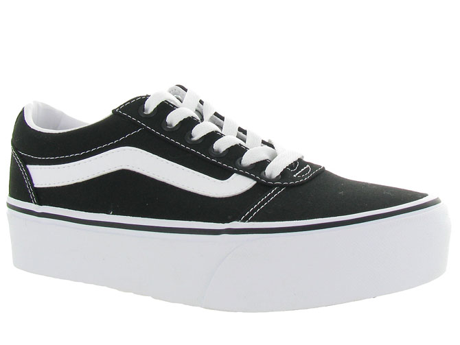 Vans baskets et sneakers ward plateform noir