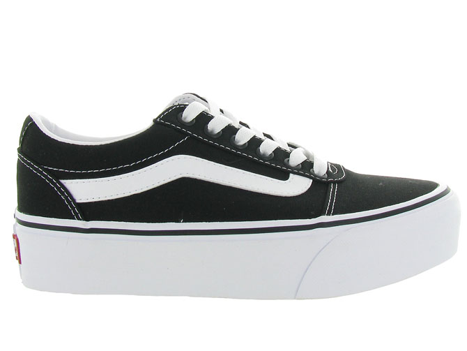 Vans baskets et sneakers ward plateform noir4440401_2