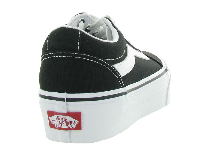 Vans baskets et sneakers ward plateform noir4440401_5