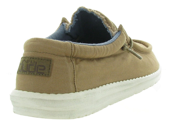Hey dude baskets et sneakers wally washed marron4446104_5