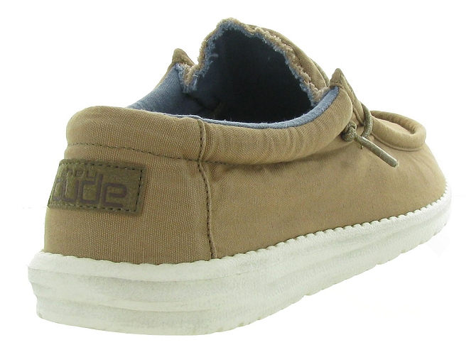 Hey dude baskets et sneakers wally washed marron4446104_6