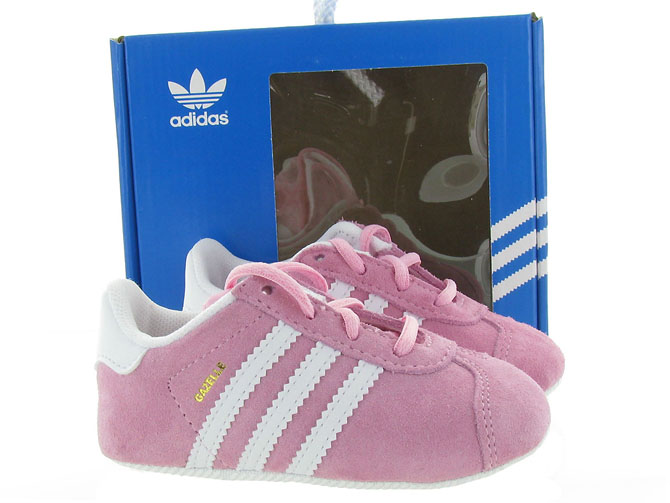 Adidas baskets et sneakers gazelle crib girl rose