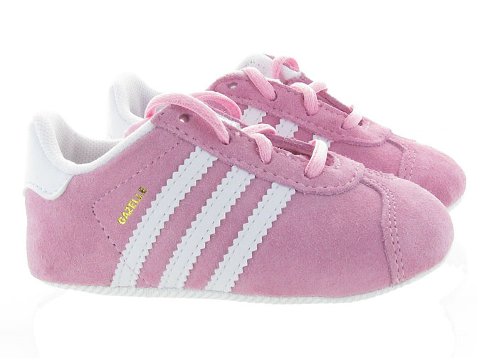 Adidas baskets et sneakers gazelle crib girl rose4451701_2