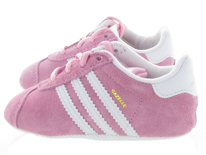 Adidas baskets et sneakers gazelle crib girl rose4451701_4