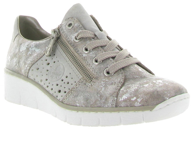 Rieker baskets et sneakers 53715 gris