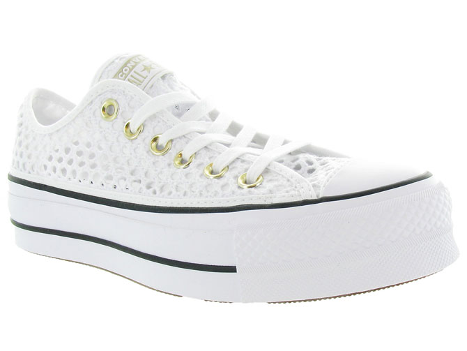 Converse baskets et sneakers ctas lift crochet blanc