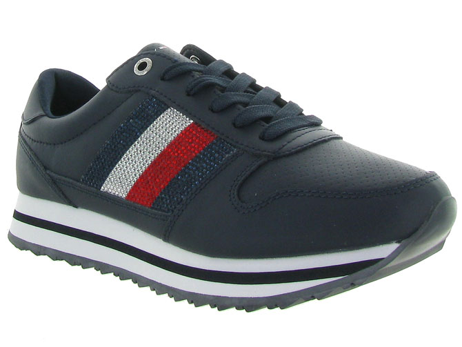 Tommy hilfiger baskets et sneakers tommy retro crystal marine
