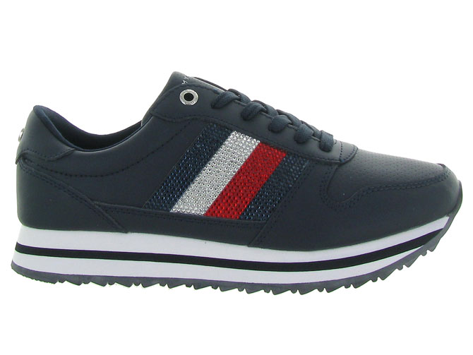Tommy hilfiger baskets et sneakers tommy retro crystal marine4469201_2