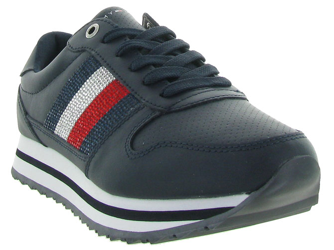 Tommy hilfiger baskets et sneakers tommy retro crystal marine4469201_3
