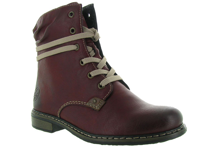 Rieker bottines et boots 71229 bordeaux
