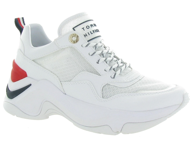 Tommy hilfiger baskets et sneakers internal wedge sporty blanc