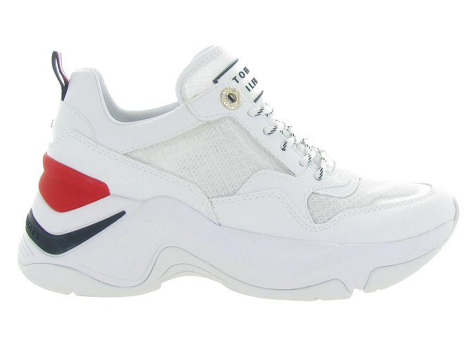 Tommy hilfiger baskets et sneakers internal wedge sporty blanc4544901_2