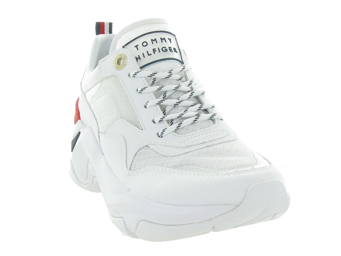 Tommy hilfiger baskets et sneakers internal wedge sporty blanc4544901_3