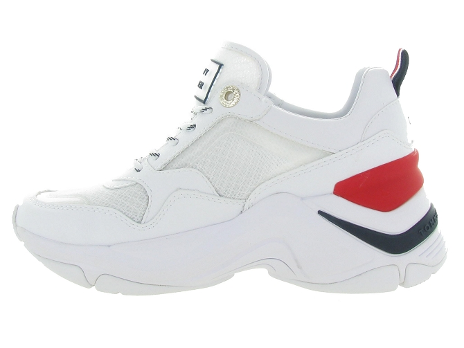 Tommy hilfiger baskets et sneakers internal wedge sporty blanc4544901_4