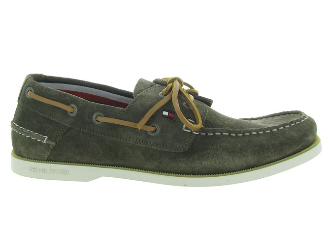 Tommy hilfiger mocassins classic suede boatshoe taupe4546001_2