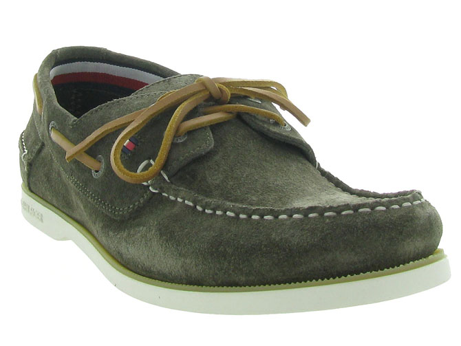 Tommy hilfiger mocassins classic suede boatshoe taupe4546001_3