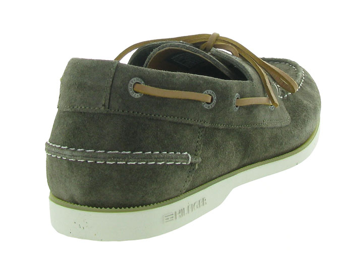 Tommy hilfiger mocassins classic suede boatshoe taupe4546001_5