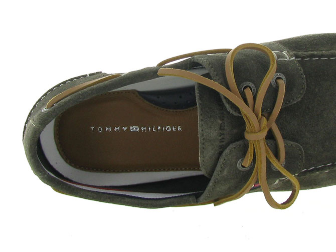 Tommy hilfiger mocassins classic suede boatshoe taupe4546001_6
