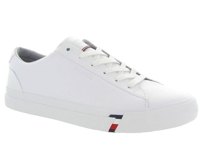 Tommy hilfiger baskets et sneakers corporate leather snk blanc