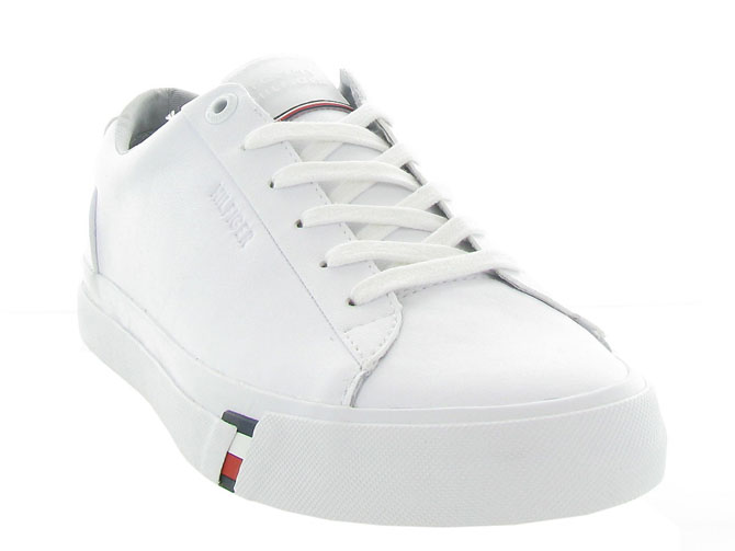 Tommy hilfiger baskets et sneakers corporate leather snk blanc4546501_3