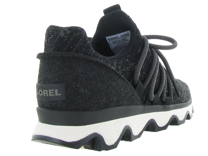 Sorel baskets et sneakers kinetic lace noir4597802_5